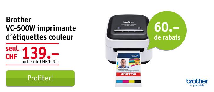 Brother VC-500W imprimante d'étiquettes