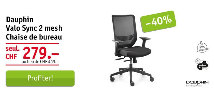 Dauphin Valo Sync 2 mesh chaise de bureau