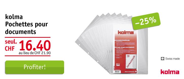 Kolma poches pour documents