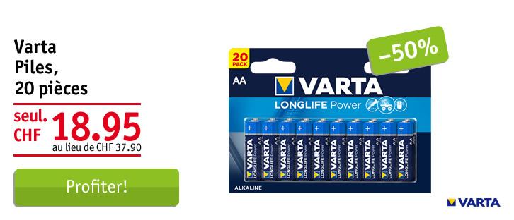 Varta piles Longlife Power AA/LR6