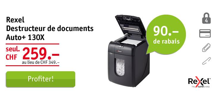 Rexel destructeur de documents Auto+ 130X