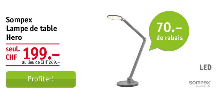 Sompex lampe de bureau Hero